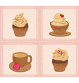 menu coffee shop card set vector image