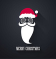 merry christmas background santa claus moustache vector image