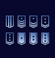 military ranks army epaulettes set vector image vector image