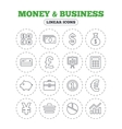 Money and business icon Cash and cashless money vector image vector image