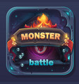 monster battle gui icon vector image vector image