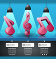 music infographic treble clef icon note icon vector image vector image