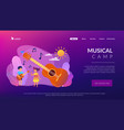 musical camp concept landing page vector image vector image