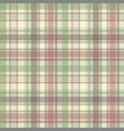 pastel color check plaid fabric seamless pattern vector image vector image