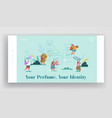 perfumery composition creation website landing vector image