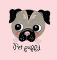 portrait a puppy vector image vector image
