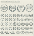 premium quality laurel wreath collection 2 vector image vector image