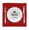 realistic restaurant menu template menu vector image