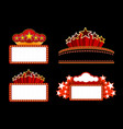 Retro illuminated Movie marquee Blank sign vector image vector image