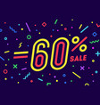 sale -60 percent banner for discount sale vector image vector image