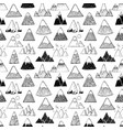 seamless background with doodle sketch mountains vector image vector image