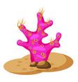 seaweed under water plant corals cartoon style vector image vector image