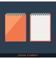 Set of pads in a flat style vector image vector image
