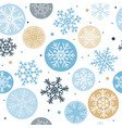 snowflakes seamless pattern winter concept vector image vector image