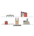 spain logrono flat landmarks vector image vector image
