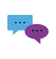 speech bubbles chat comment message image vector image