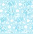 tender blue hand drawn ink flowers pattern vector image vector image