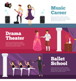 Theatre People Banners Set vector image vector image
