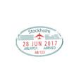 visa stockholm arlanda airport arrival date vector image vector image