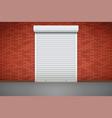 white roller shutters on door vector image vector image