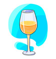white wine glass hand drawn style vector image