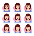 woman shot hair face emotion vector image