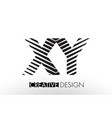 xy x y lines letter design with creative elegant vector image