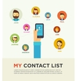 Social Networking People Conceptual vector image
