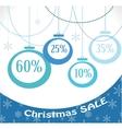 christmas sale christmas decoration and balls vector image