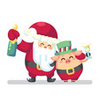 2019 new year merry christmas symbol santa claus vector image