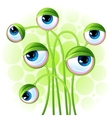 abstract background with alien eyes