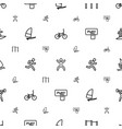 active icons pattern seamless white background vector image vector image