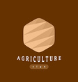 Agriculture sign abstract template vector image