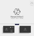 architectur construction logo template icon vector image vector image