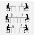 Architectural set of furniture with people vector image
