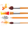 art brushes vector image vector image