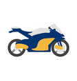 bike flat icon and logo cartoon vector image vector image