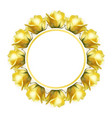 blank form for your design realistic yellow vector image vector image
