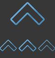 Blue line arrow logo design set vector image vector image