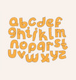 bright alphabet hand drawn font decorated vector image vector image