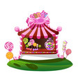 candy shop with a cheerful decor vector image