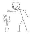 cartoon big man and small woman or boss vector image vector image