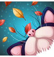 cartoon cat characters fall vector image vector image