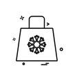 christmas icon design vector image vector image