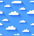 clean flat cloud seamless background vector image vector image