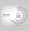 closed padlock on digital binary code vector image