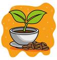 coffe beans cartoon vector image vector image