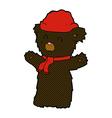 comic cartoon cute black bear vector image vector image