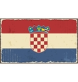 Croatian grunge flag vector image vector image