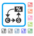 currency cashflow framed icon vector image vector image
